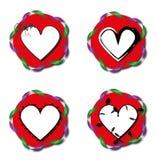 De rode tekens van het liefdehart Royalty-vrije Stock Fotografie