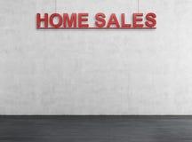 De rode tekst van de huisverkoop Stock Foto's