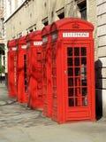 De Rode Telefooncellen van Londen Stock Fotografie