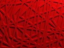 De rode teruggegeven achtergrond van het chaosnetwerk Stock Afbeelding