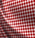 De rode textuur van de picknickdoek Stock Fotografie