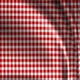 De rode textuur van de picknickdoek Stock Foto's