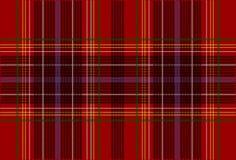 De rode Textuur van het Geruite Schotse wollen stof Stock Foto's