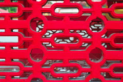 De rode textuur van het patroonvenster Stock Fotografie