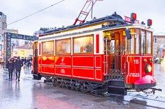 De rode tram Royalty-vrije Stock Afbeelding