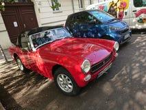 De rode uitstekende auto van MG royalty-vrije stock foto