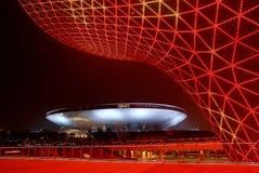 DE RODE VALLEIEN VAN DE ZON IN 2010 SHANGHAI EXPO Royalty-vrije Stock Afbeelding