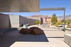 De rode van het de bezoekercentrum van de Rotscanion observaties Nevada. Stock Foto's