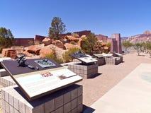 De rode van het de bezoekercentrum van de Rotscanion observaties Nevada. Royalty-vrije Stock Afbeeldingen