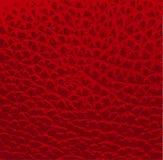 De rode vector van de leertextuur Stock Afbeelding