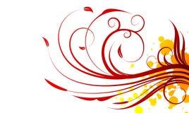 De rode vectorillustratie van de lente Royalty-vrije Stock Foto's