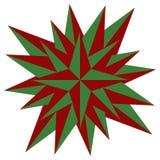 De rode vectorillustratie van de Kerstmisster - Holdiay-decoratie stock foto