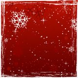 De rode vierkante achtergrond van grungeKerstmis Stock Foto