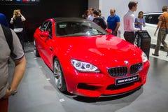 De rode vijfde reeks van BMW royalty-vrije stock fotografie