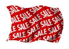 De Rode Vlag van de verkoop Stock Afbeelding