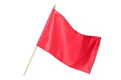 De rode vlag van de zijde Stock Foto's