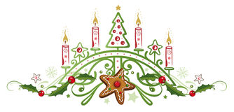 De rode Vlam van Kerstmis van Kaarsen Royalty-vrije Stock Fotografie