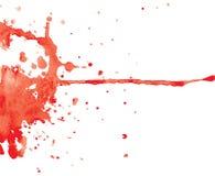 De rode vlek van de inkt Stock Foto