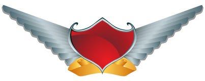 De rode Vleugels van het Schild Royalty-vrije Stock Foto