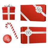 De rode voorwerpen van Kerstmis Stock Foto