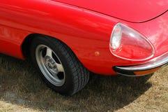 De rode Voorzijde van de Auto Stock Afbeeldingen