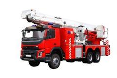 De rode Vrachtwagen van de Brand redders stock fotografie