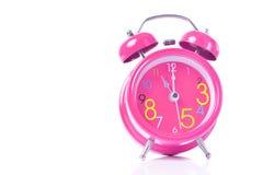De rode wekker toont 11 uur Royalty-vrije Stock Fotografie