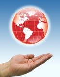 De rode wereld van handen vector illustratie