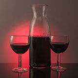 De rode wijn is klaar te drinken Royalty-vrije Stock Fotografie