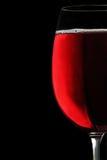 De rode wijn van de drinkbeker Stock Foto's
