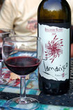 De Rode Wijn van Tamariscobolgheri Stock Fotografie