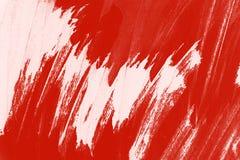 De rode witte achtergrond van verfkwaststreken vector illustratie