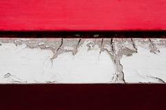 De rode Witte Karmozijnrode houten achtergrond van de plankmuur Stock Foto