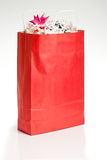 De rode Zak van Kerstmis Stock Fotografie