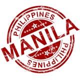 De rode zegel van Manilla vector illustratie