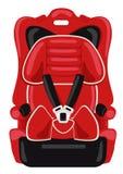 De rode zetel van de kindauto Stock Foto
