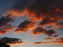 De rode Zonsondergang van de Hemel Royalty-vrije Stock Foto
