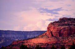 De rode Zonsondergang van de Rots Stock Foto's