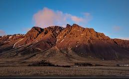 De rode zonsondergang van IJsland royalty-vrije stock afbeelding