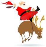 De rodeo van de kerstman Royalty-vrije Stock Fotografie
