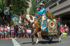 2015 de Rodeo van Fortdalles Koningin Carsen Cordell Stock Foto