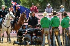 De Rodeo van Nieuw Zeeland - Haka Stock Foto