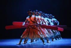 De roeier-tweede handeling van de gebeurtenissen van dans drama-Shawan van het verleden Stock Afbeelding