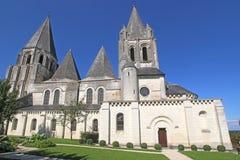 De Roeispanenkerk van heilige, Loches royalty-vrije stock afbeelding