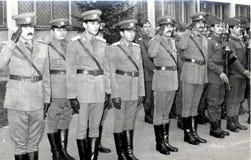 De Roemeense Communistische Era van Leger Militaire Ambtenaren Stock Foto
