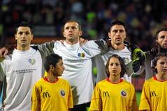 De Roemeense voetballer stelt op Royalty-vrije Stock Foto's