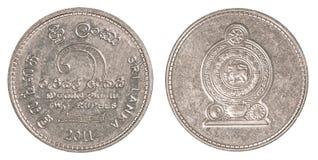 2 de Roepiemuntstuk van Sri Lankan Royalty-vrije Stock Foto