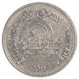 2 de Roepiemuntstuk van Sri Lankan Royalty-vrije Stock Afbeeldingen
