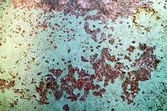 De roest en de het metaaloppervlakte van het erosieijzer hadden schade door weathe royalty-vrije stock afbeelding