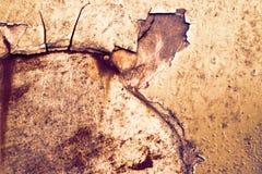 De roest en de het metaaloppervlakte van het erosieijzer hadden schade door weathe stock foto